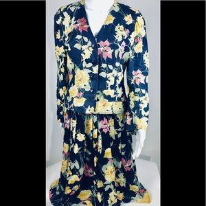 Vtg M London by Jeannene Booher Linen Silk Suit 6
